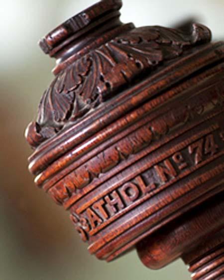 Athol Lodge masonic wood engraving